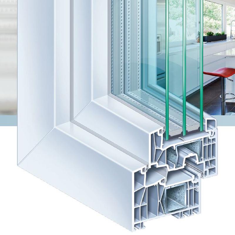 Kömmerling 88, le châssis PVC hyper isolant de Kömmerling placé par Europortes