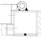 tube pour pose d'une porte blindée en battée. Europortes vous promet des portes blindées sans perte de chaleur ni de confort